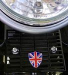 Triumph Rectifier Guard Union Flag Logo Shield. Bonneville Thruxton Scrambler. 2002/15. Black.